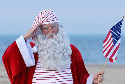 Santa Salutes America